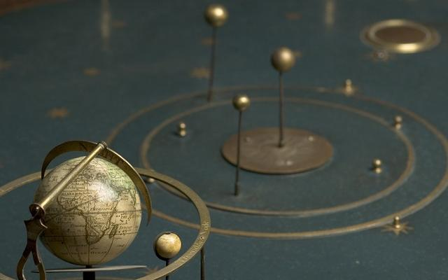 inv 35757 orrery by thomas wright c 1700  detail
