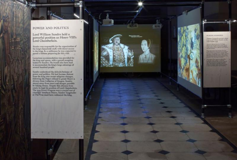 The Vyne - animated medieval tapestries film in the Stone Gallery