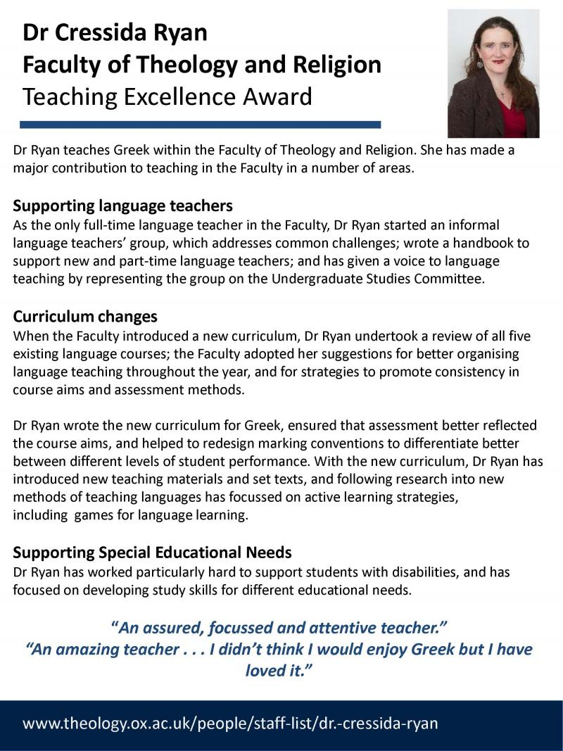 Humanities Teaching Awards | Humanities Division