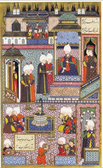 SultanSuleiman Ireceives his Grand Admiral,Hayreddin Barbarossa.