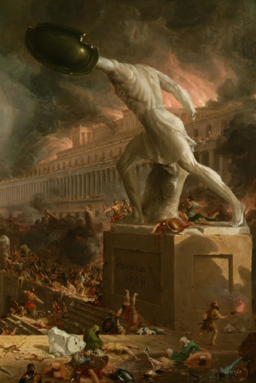 Image: Thomas Cole, Destruction (detail) from Course of Empire, 1836