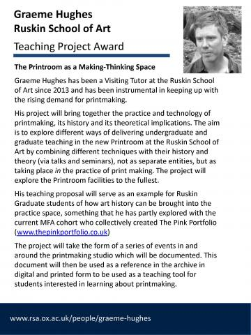 Teaching Project Awards - Graeme Hughes
