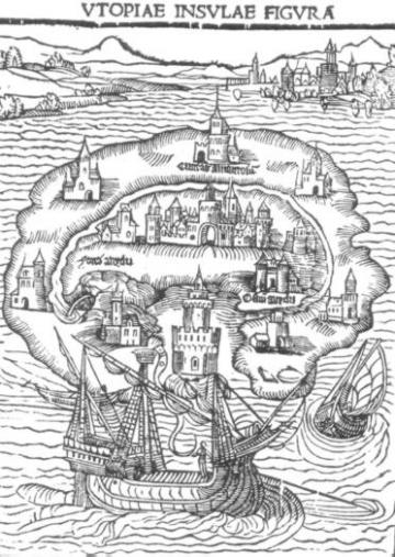 Illustration for the 1516 first edition of Utopia