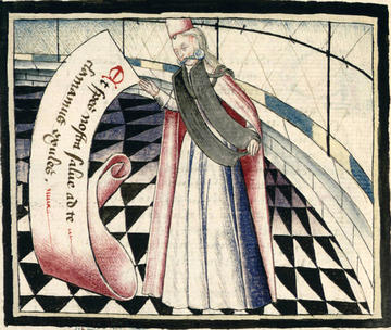 Lady Temperance, from Martin Le Franc, Le Champion des dames (c.1442); Grenoble, Bibliothèque Municipale, MS 352 Rés, fol. 424v