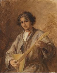 Russian boy with balalaika