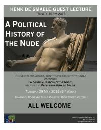 political history of the nude poster