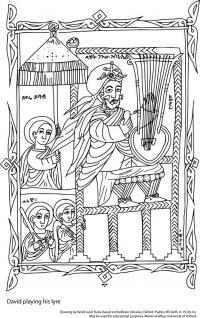 drawing david bodleian ms aeth d19