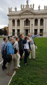 In front of the Lateran basilica