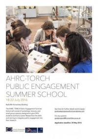 AHRC-TORCH summer school poster