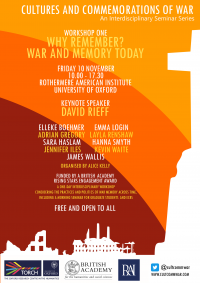 Cultures and Commemorations of War